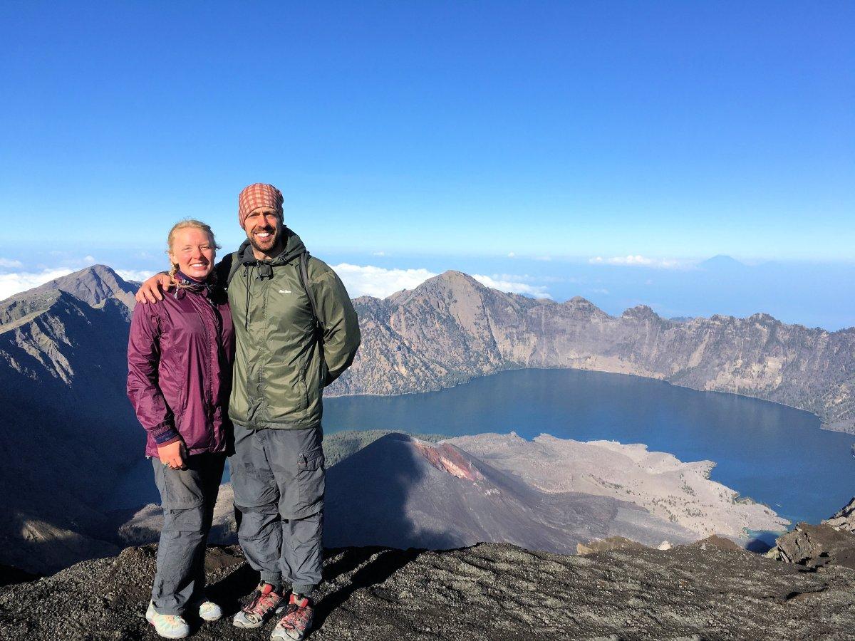 Climbing Active Volcano Mt. Rinjani, Indonesia